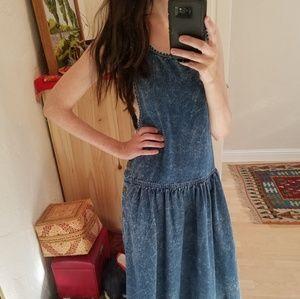 Vintage Acid Washed Osh'Kosh Denim Dress S-M